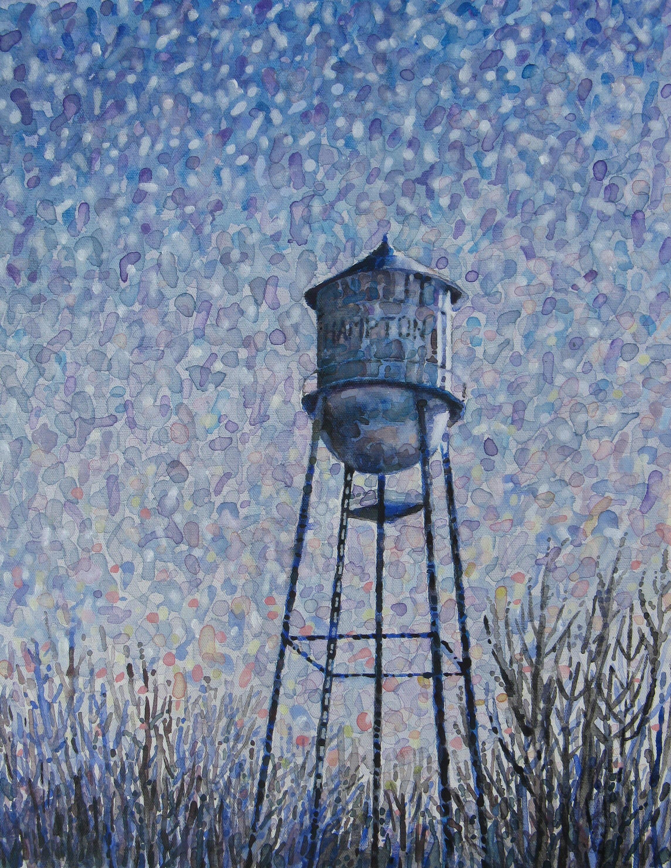 Water tower in Hampton, AR