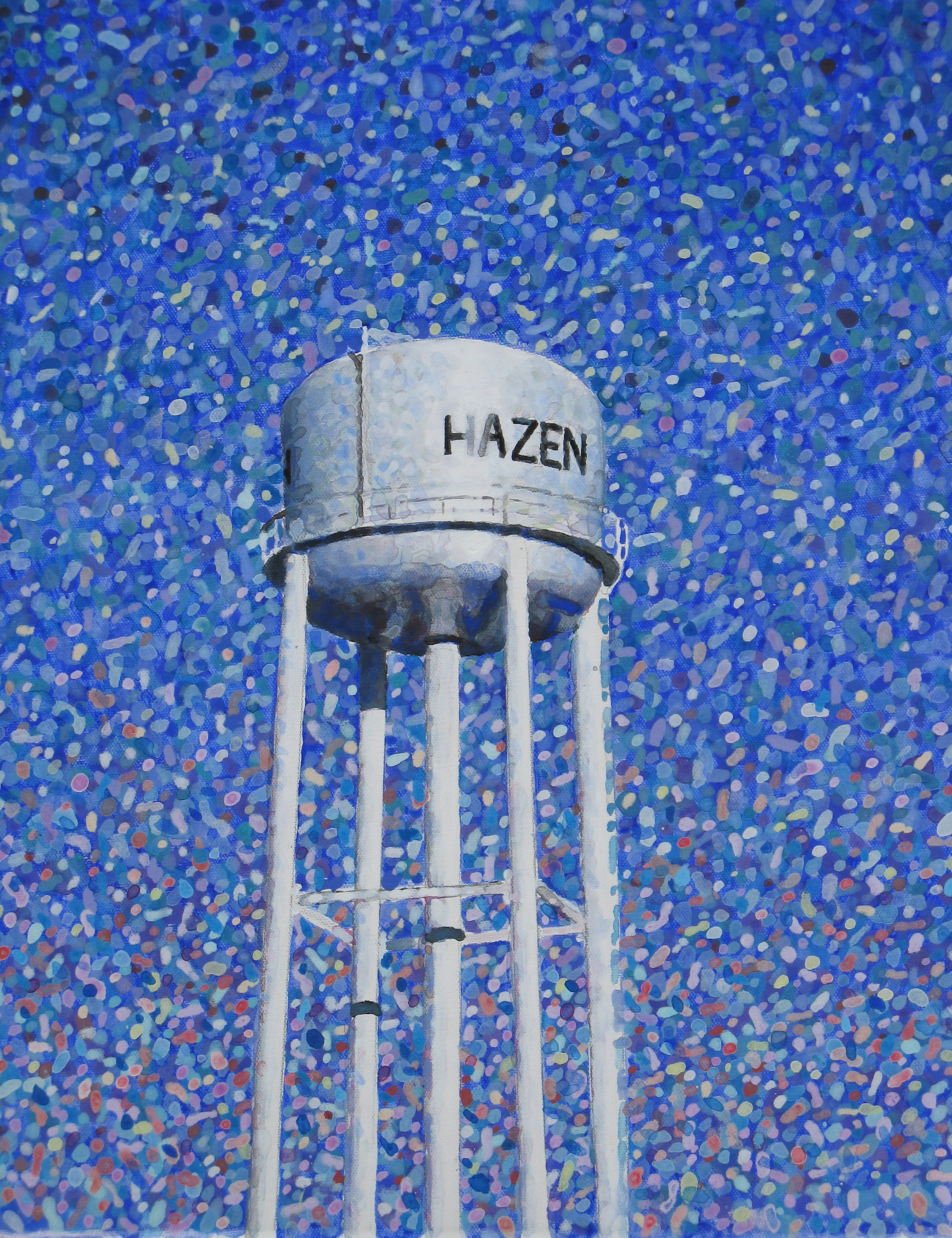 The water tower in Hazen, AR