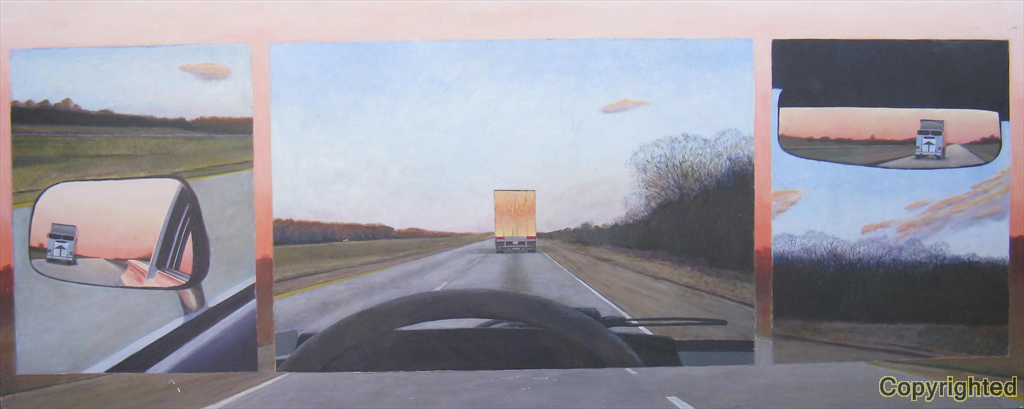 A composite of several views on I-40.  This scene was on the way to the 1987 Liberty Bowl.