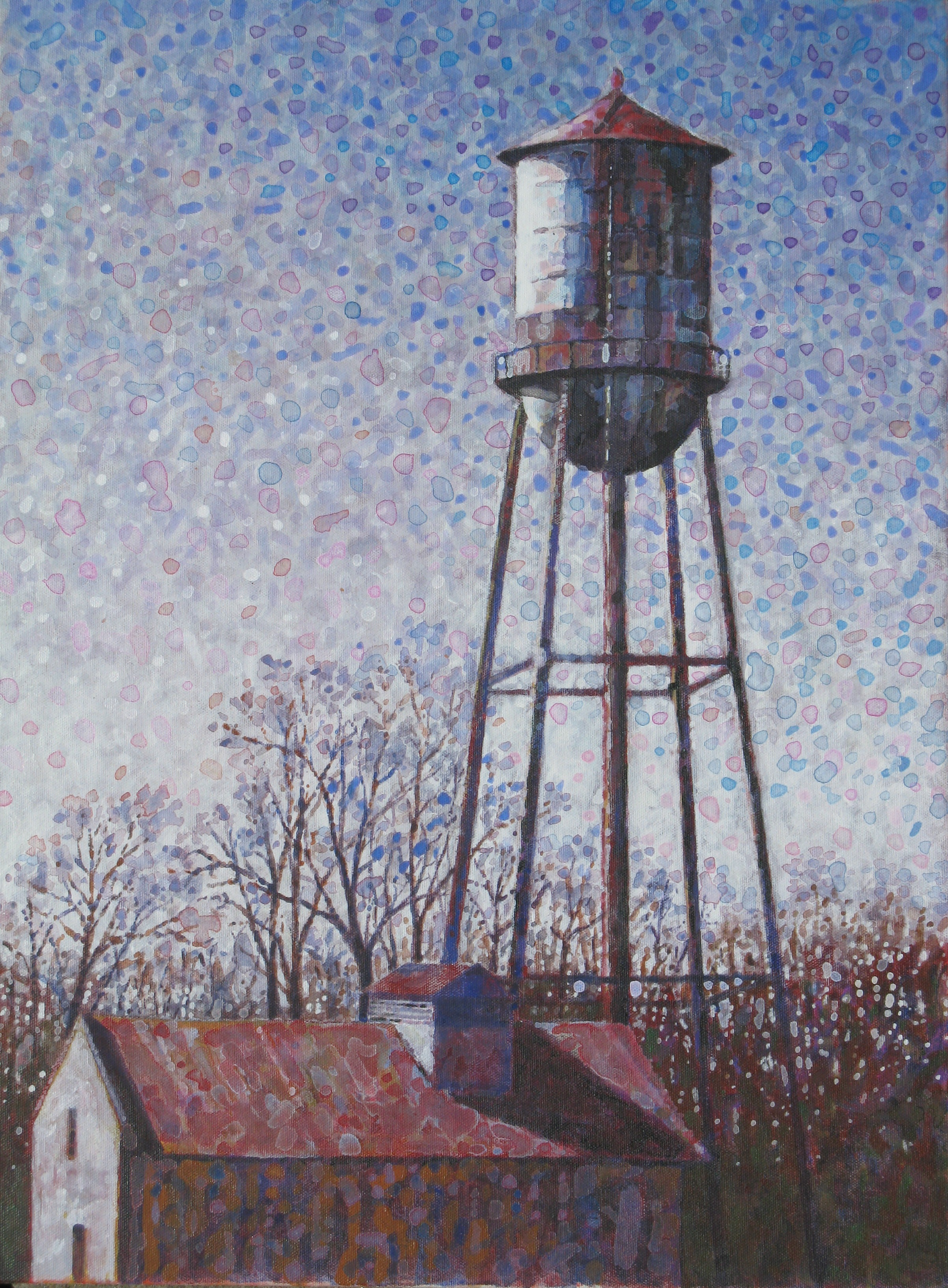 A water tower on 6th St. in Pine Bluff.  Now in the permanant collection of the Southeast Arkansas Arts & Science Ctr.
