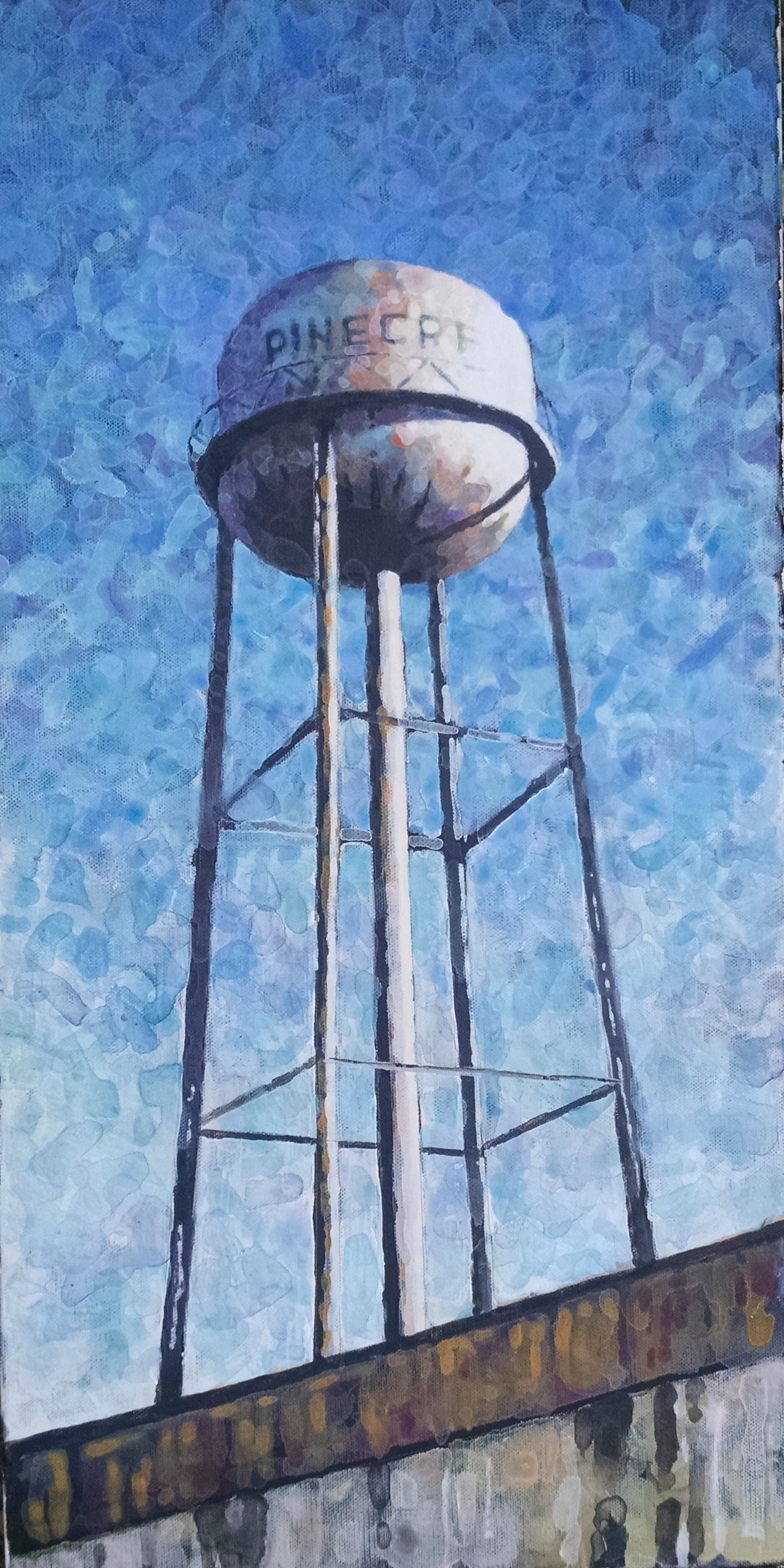 A Pine Bluff AR water tower near the Dollarway neighborhood