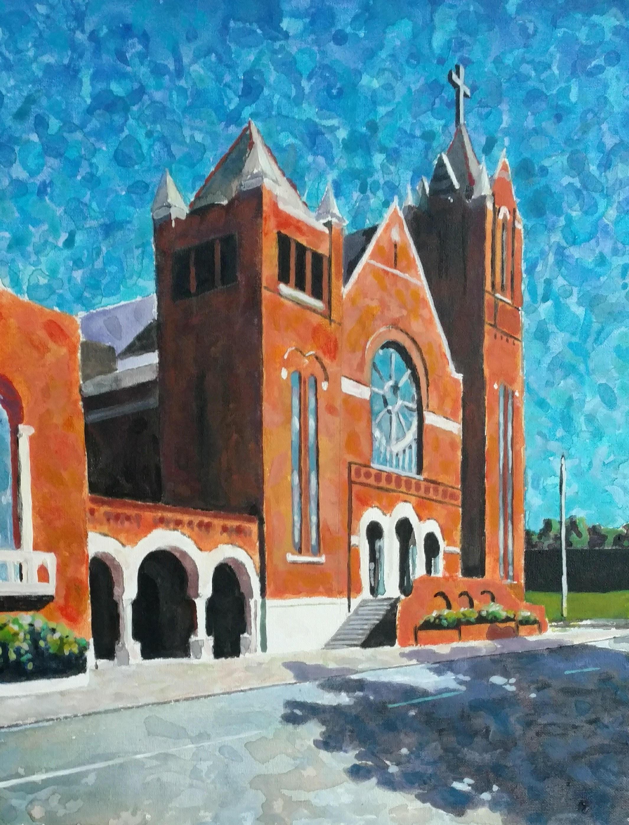 beloved downtown Methodist Church in Little Rock